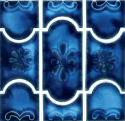 botanical marble royal blue pool tile